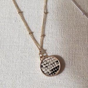 Brown/Black Snakeprint Layering Pendant Necklace
